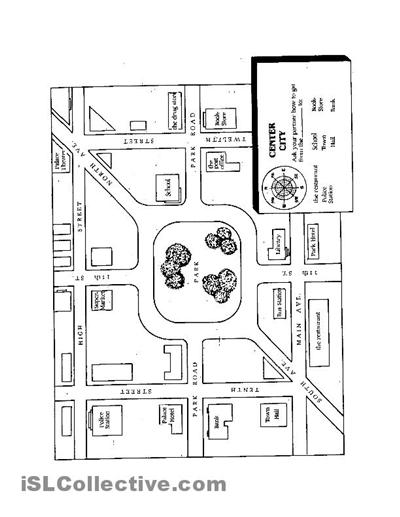 Neighborhood Map For First Grade Worksheets Neighborhood