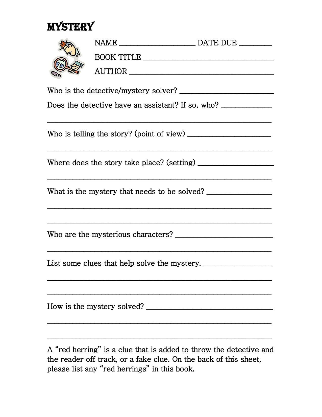 19 Best Images Of Book Report Worksheets