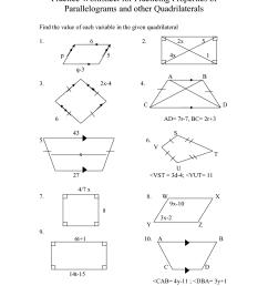 Special Parallelograms Worksheet   Printable Worksheets and Activities for  Teachers [ 1650 x 1275 Pixel ]
