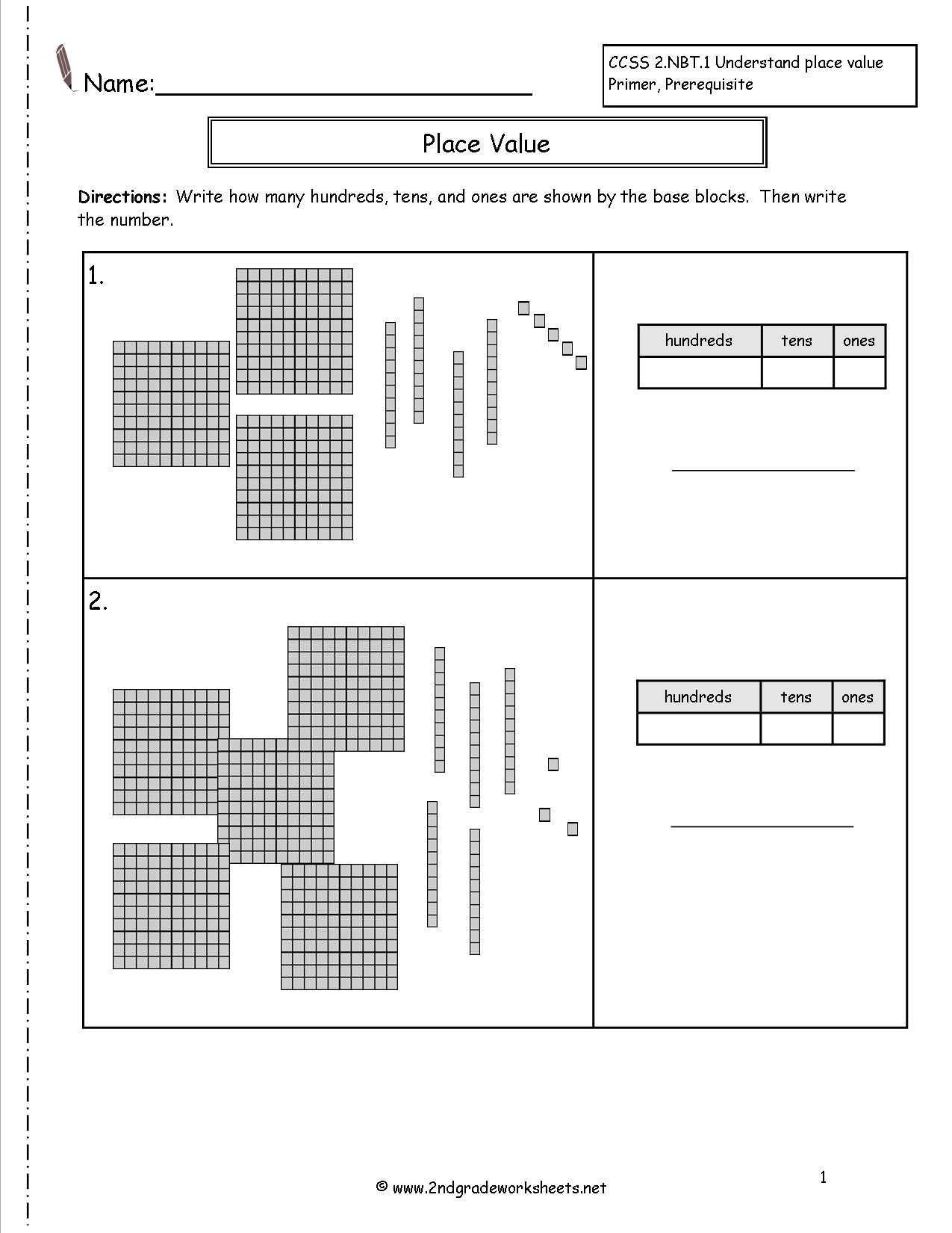 15 Best Images Of Place Value Worksheets For Grade 1