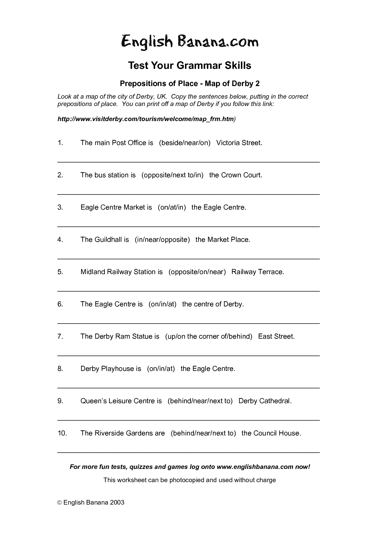 14 Best Images Of Prepositions Of Location Worksheet