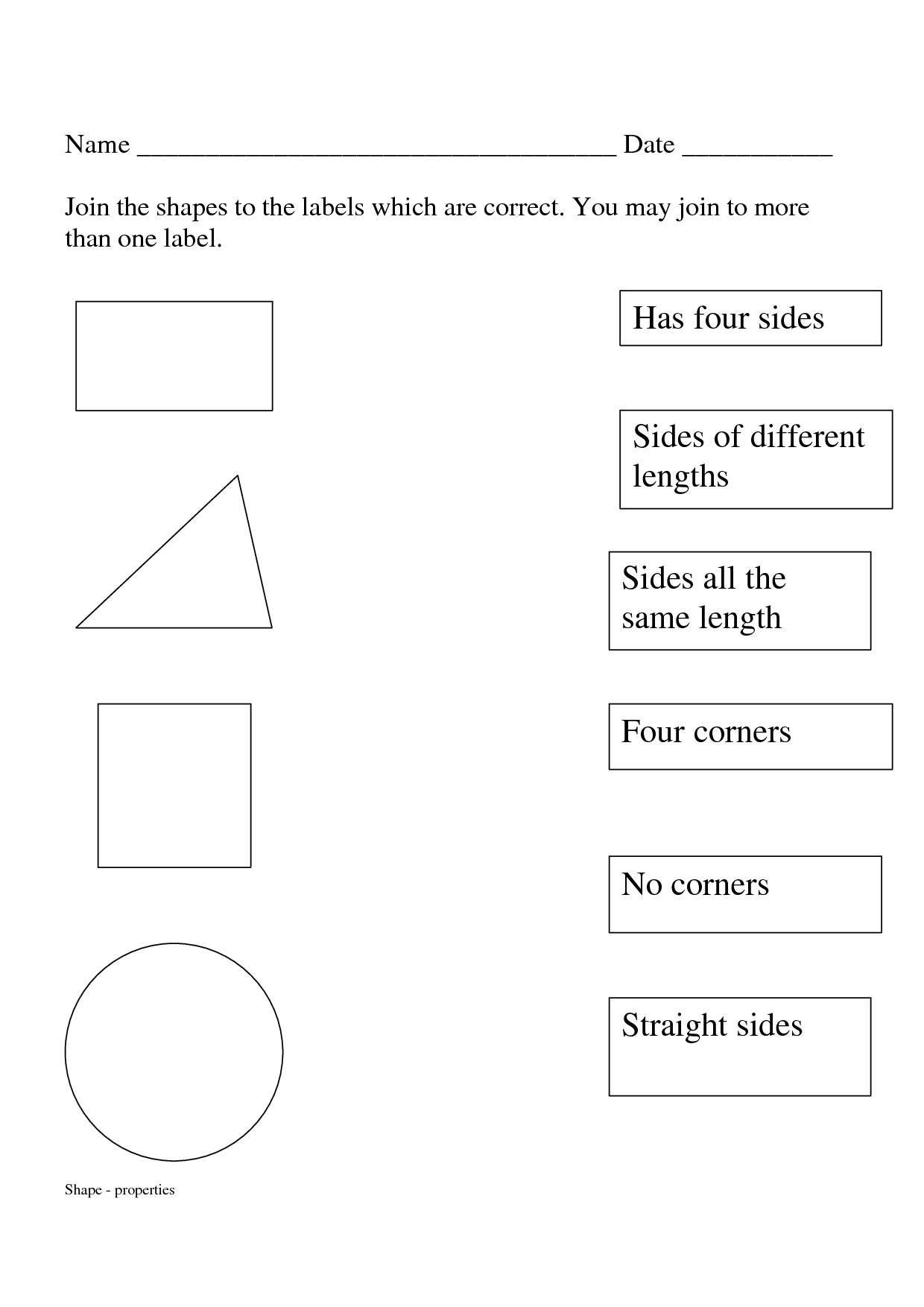 12 Best Images Of Names Of Shapes Worksheet With Sides
