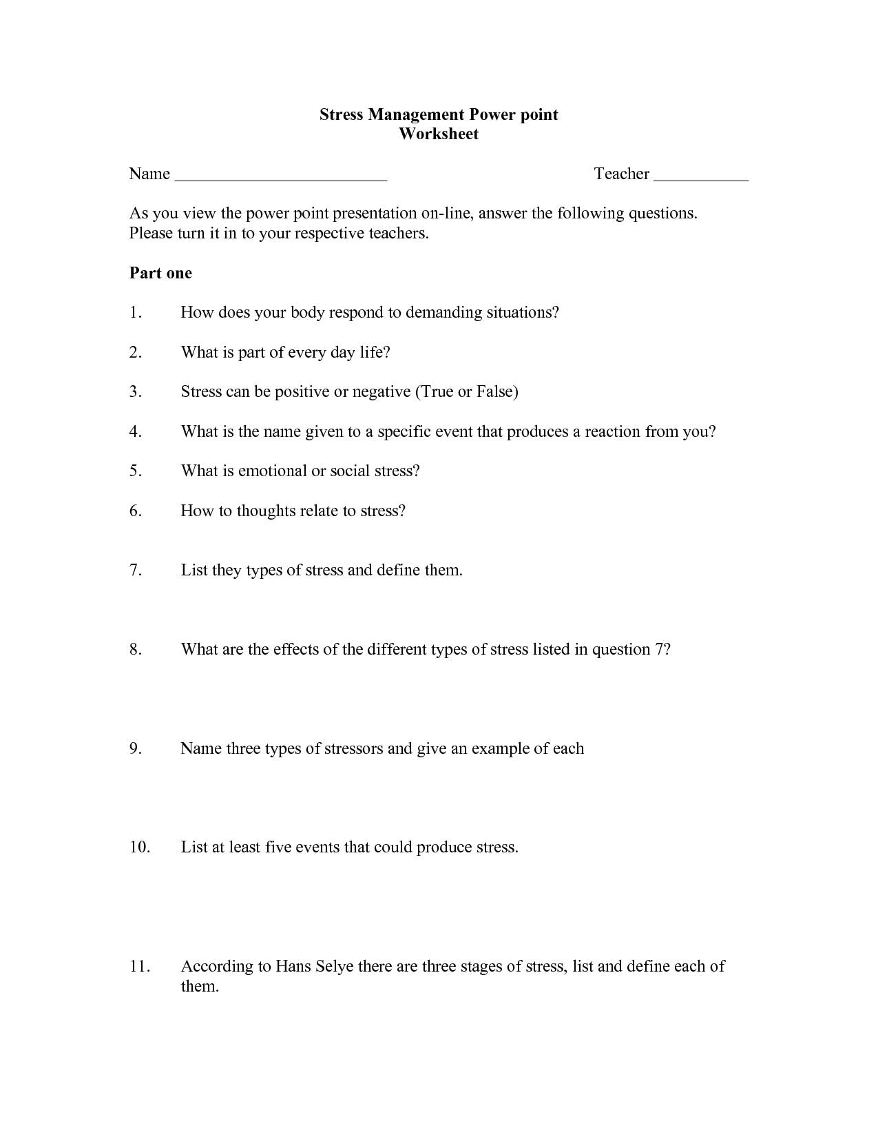 16 Best Images Of Coping Depression Worksheets