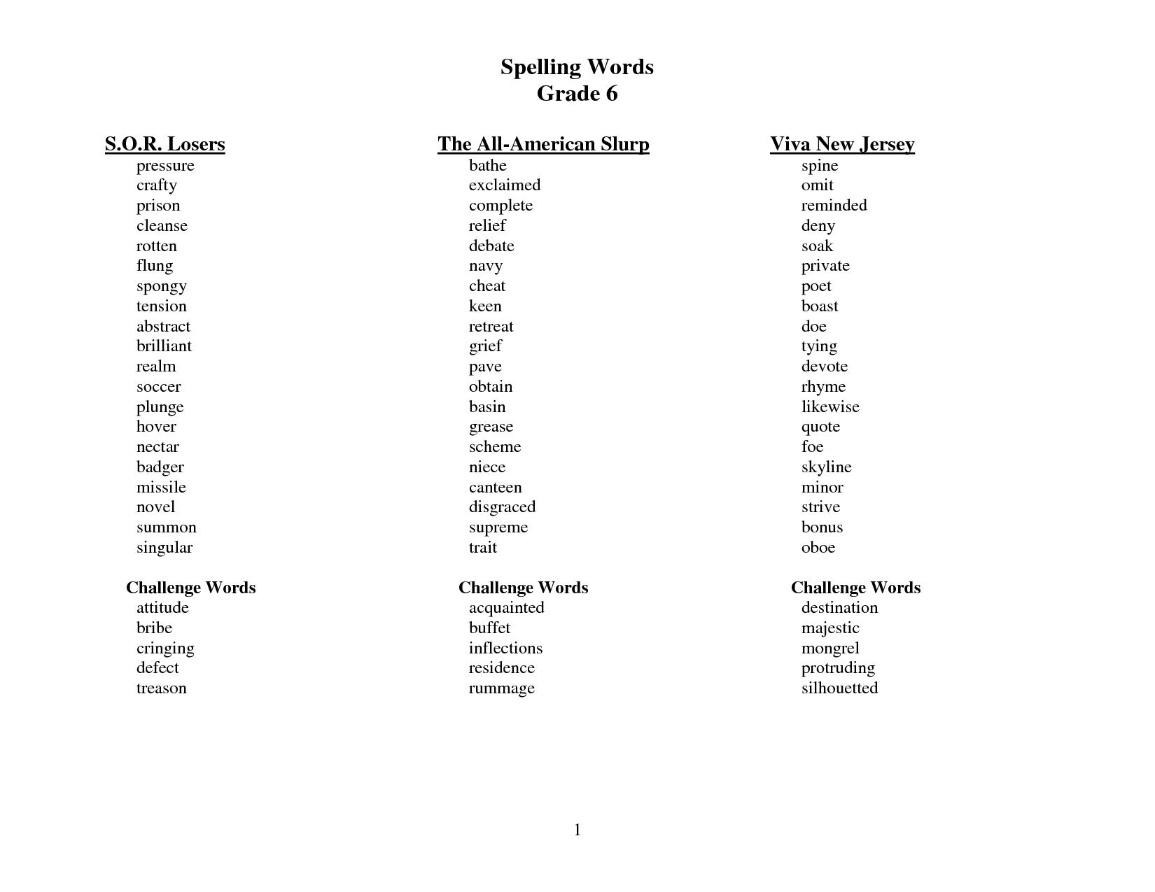 Sitton Spelling 4th Grade Worksheets