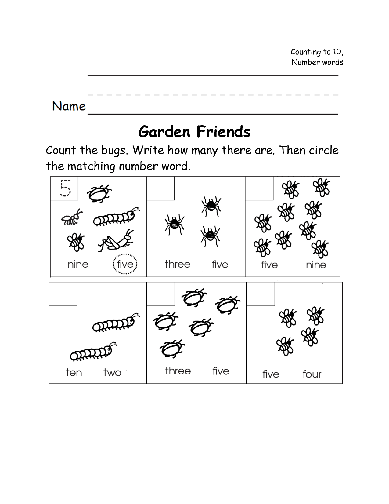 13 Best Images Of Insect Math Worksheets