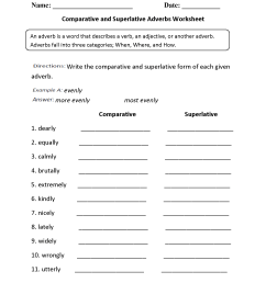 Comparative Adjectives Worksheets   Printable Worksheets and Activities for  Teachers [ 2200 x 1700 Pixel ]