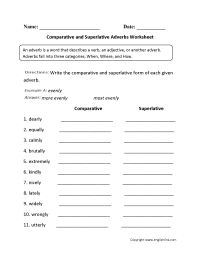14 Best Images of ESL Adverbs Worksheet - Conjunctive ...