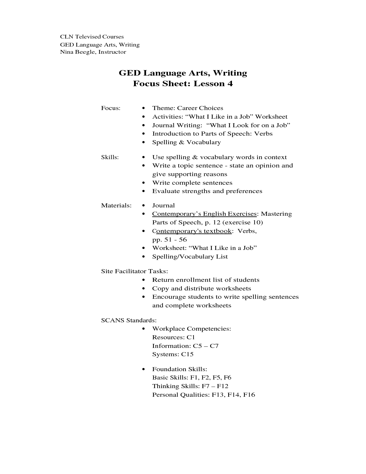 18 Best Images of GED English Worksheets