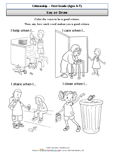 17 Best Images of Being A Good Citizen 2nd Grade Worksheet