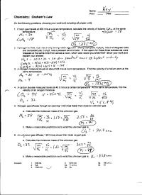 14 Best Images of Boyle's Law Worksheet Answers