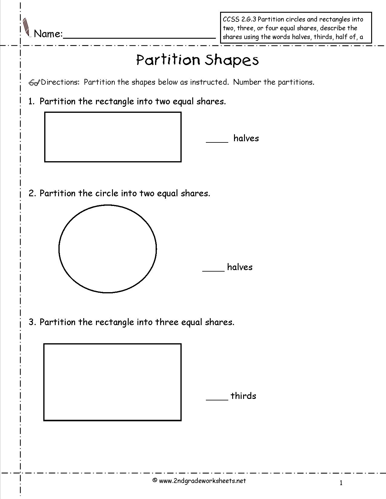 9 Best Images Of Two Equal Parts Worksheets
