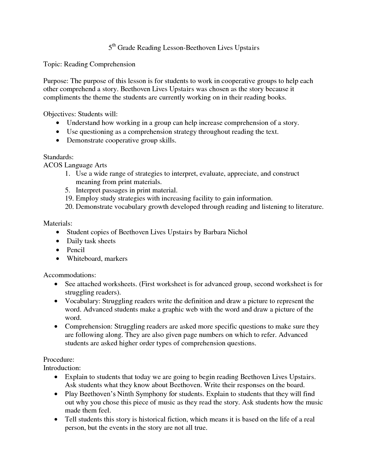 16 Best Images Of Reading Comprehension Worksheets Grade 1
