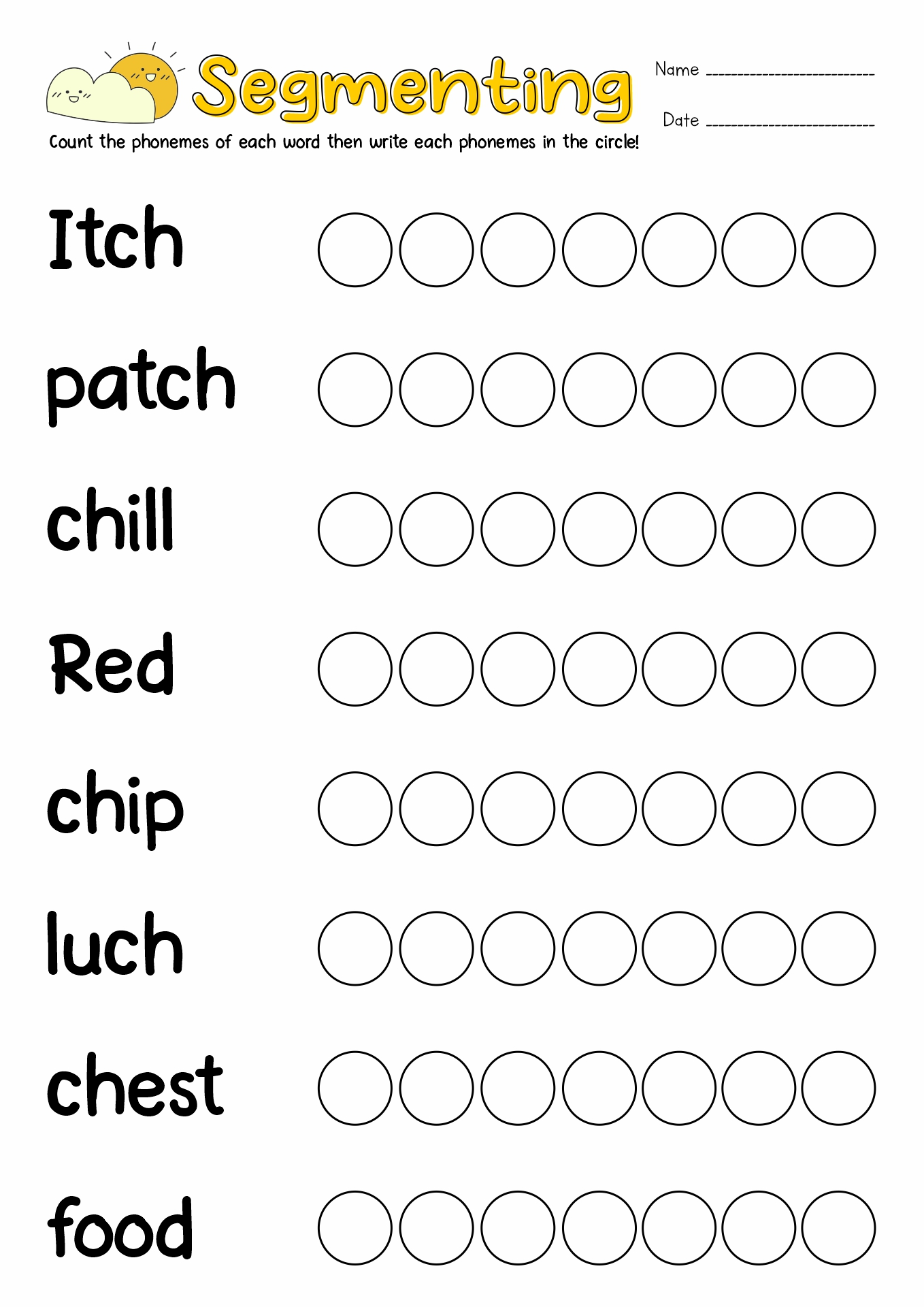 14 Best Images Of Blending Words Worksheets For Kindergarten