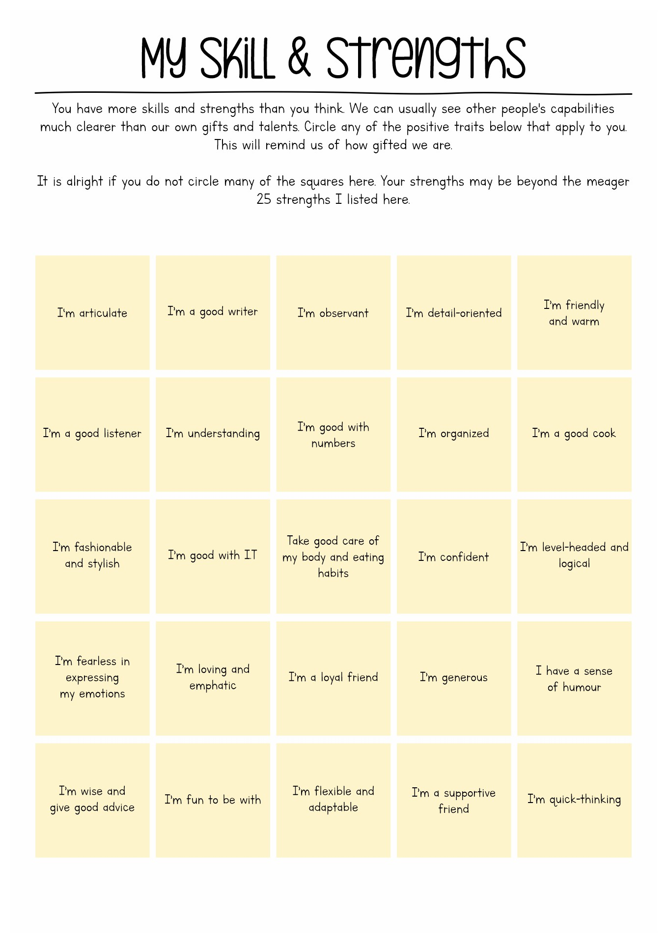 Printable Motivation Worksheet Adults
