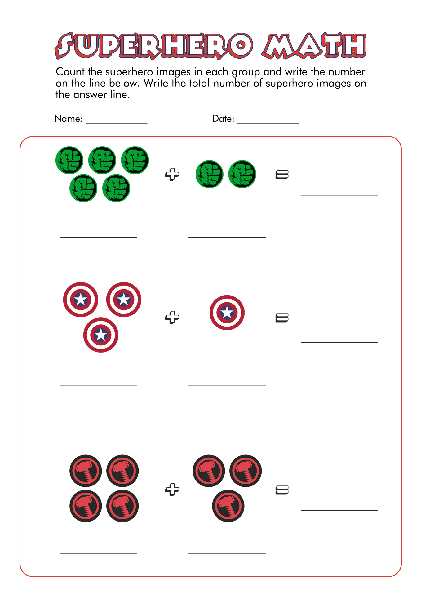 19 Best Images of Superhero Classroom School Worksheets