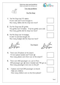 15 Best Images of Step 8 Worksheets - Multi-Step Word ...