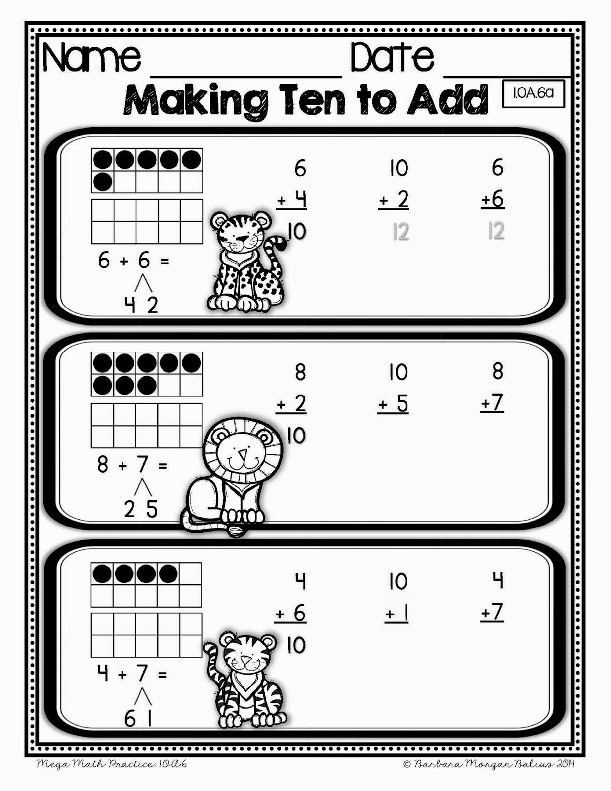 17 Best Images of Different Ways To Make 10 Worksheets