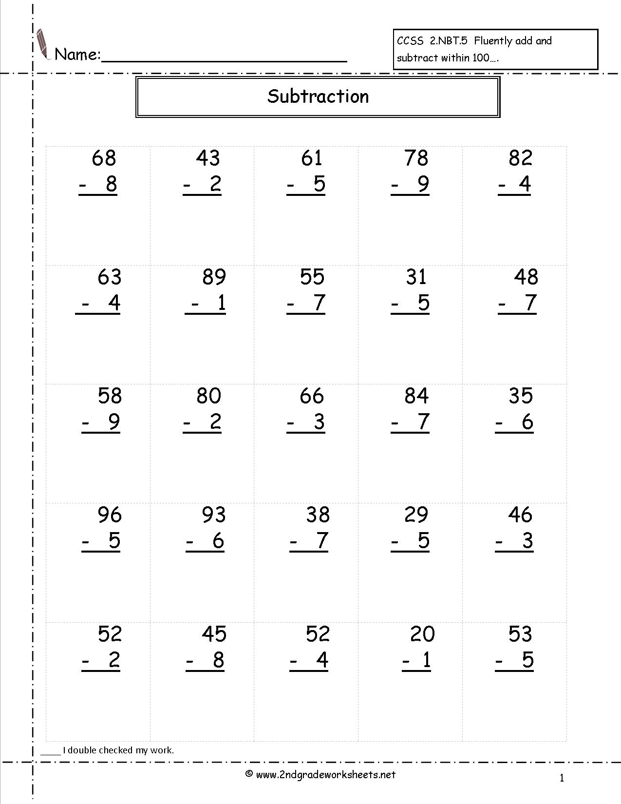 14 Best Images Of Math Worksheets Subtraction With Regrouping