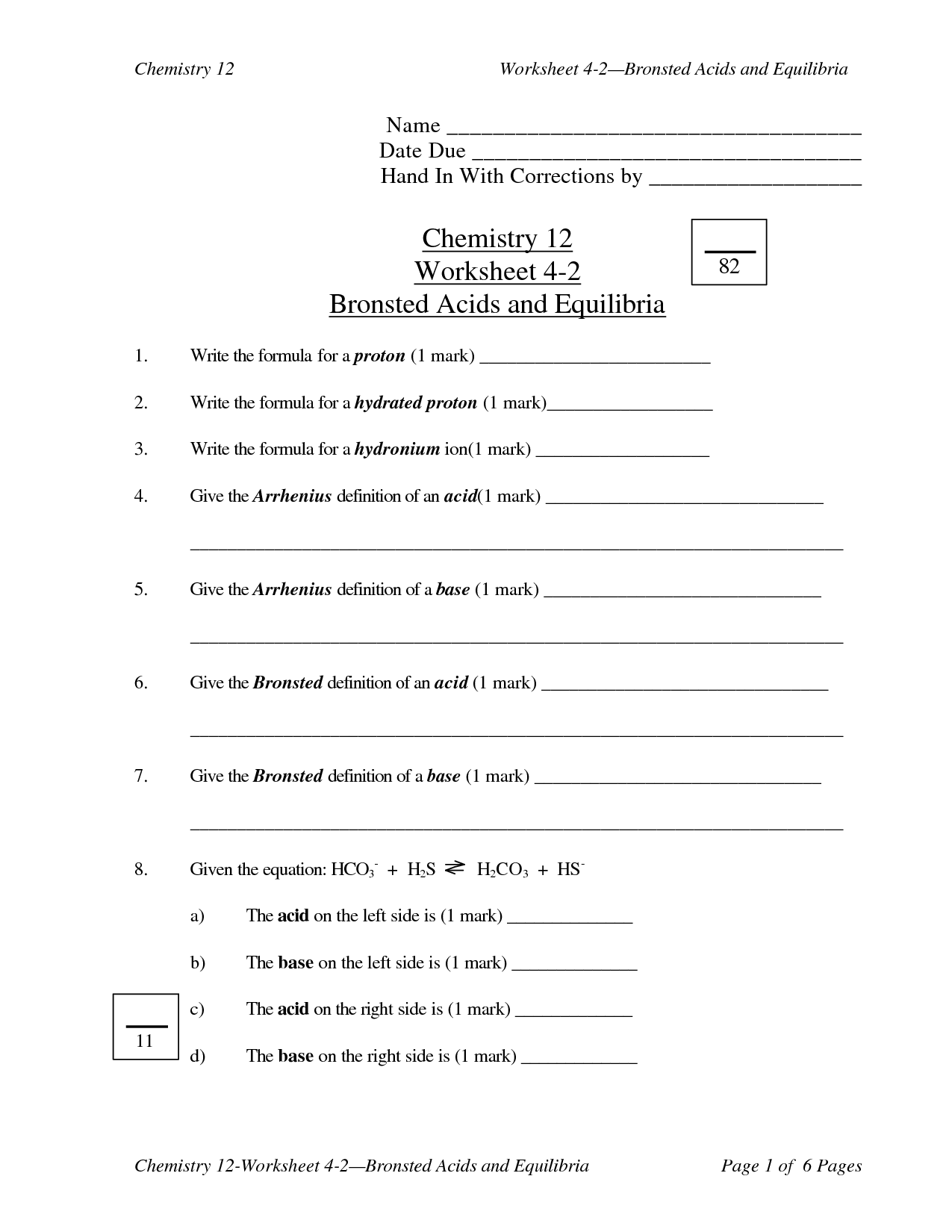 Number Bases Answer Key Worksheet