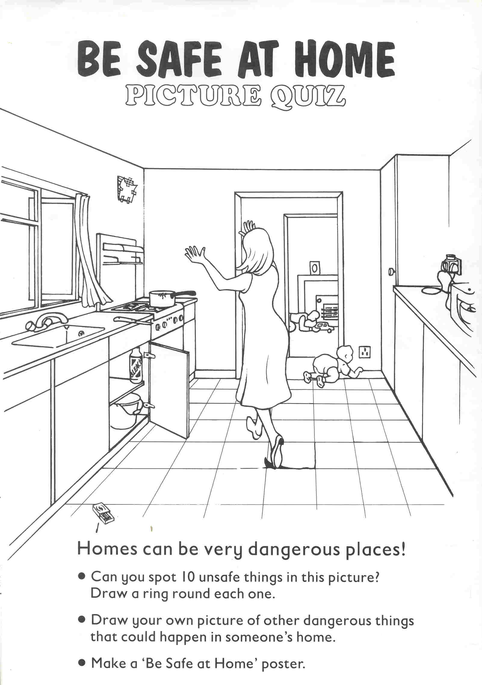 7 Best Images Of Safety Worksheets Printables Color In The House