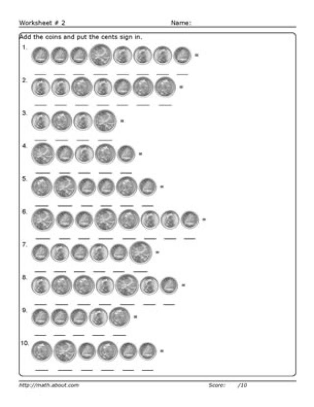 12 Best Images of Counting Money Worksheets 4th Grade