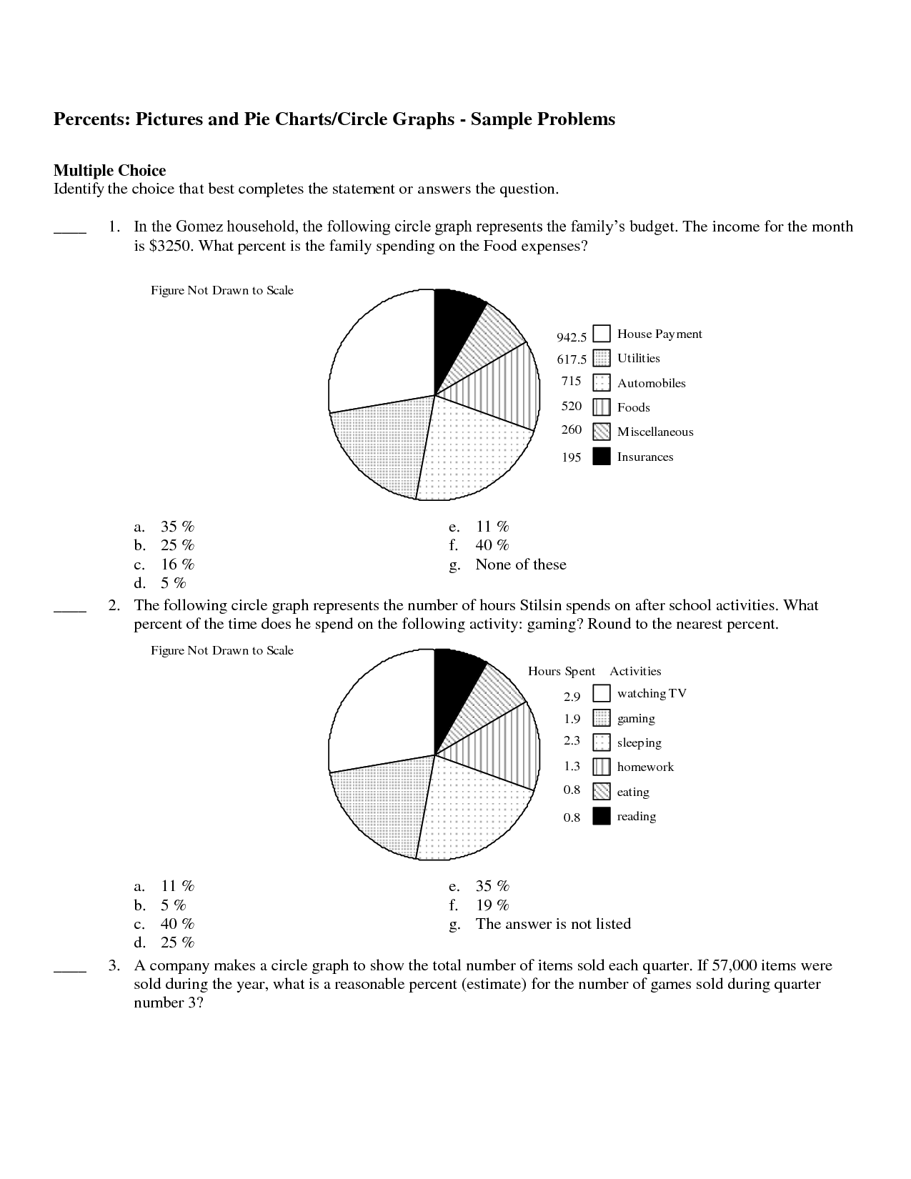 hight resolution of pie chart worksheets for grade 5 pdf - Zerse
