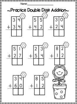 18 Best Images of Double Addition Worksheets Without