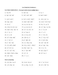 Factoring Polynomials Practice Pdf - factoring polynomials ...