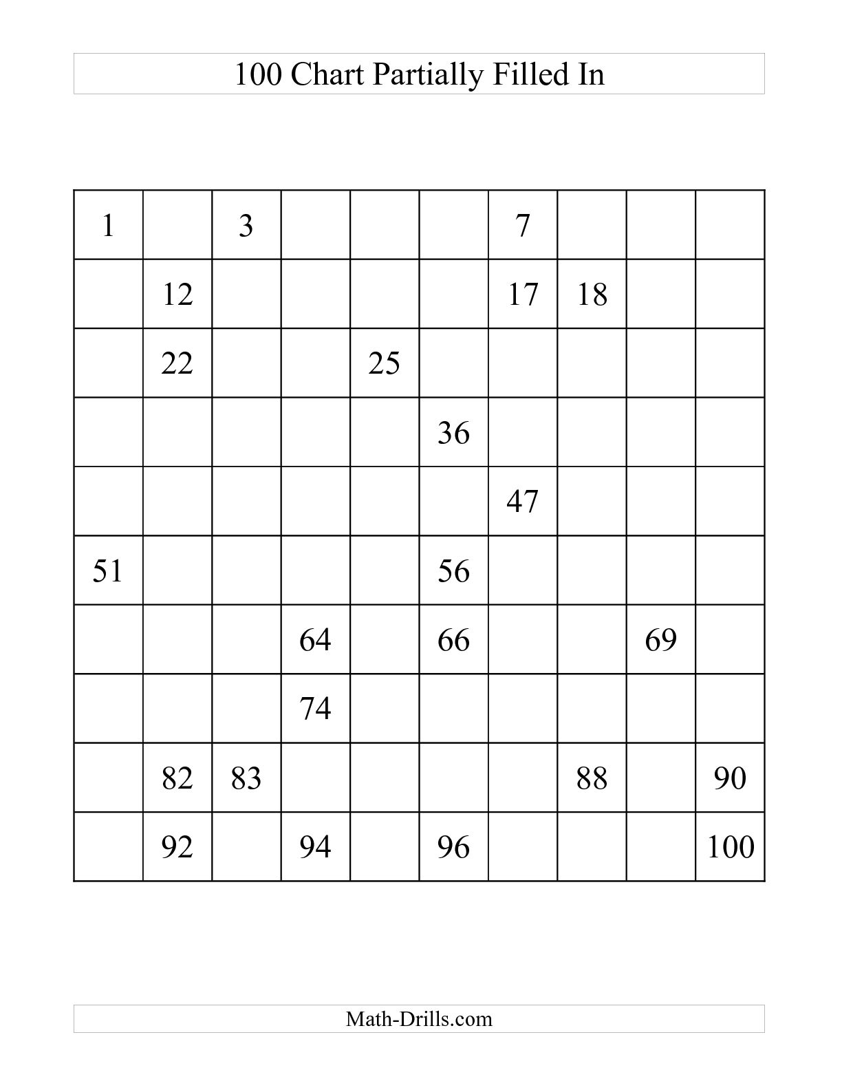 13 Best Images Of Missing Number Grid Worksheets