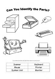 6 Best Images of Computer Parts Worksheet For Kids
