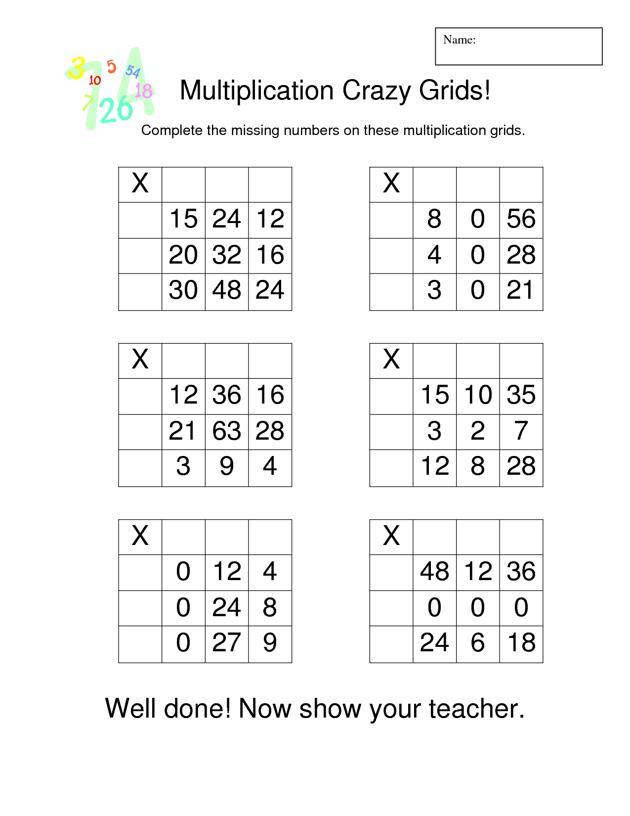 Grid Multiplication Worksheets Snappy Maths