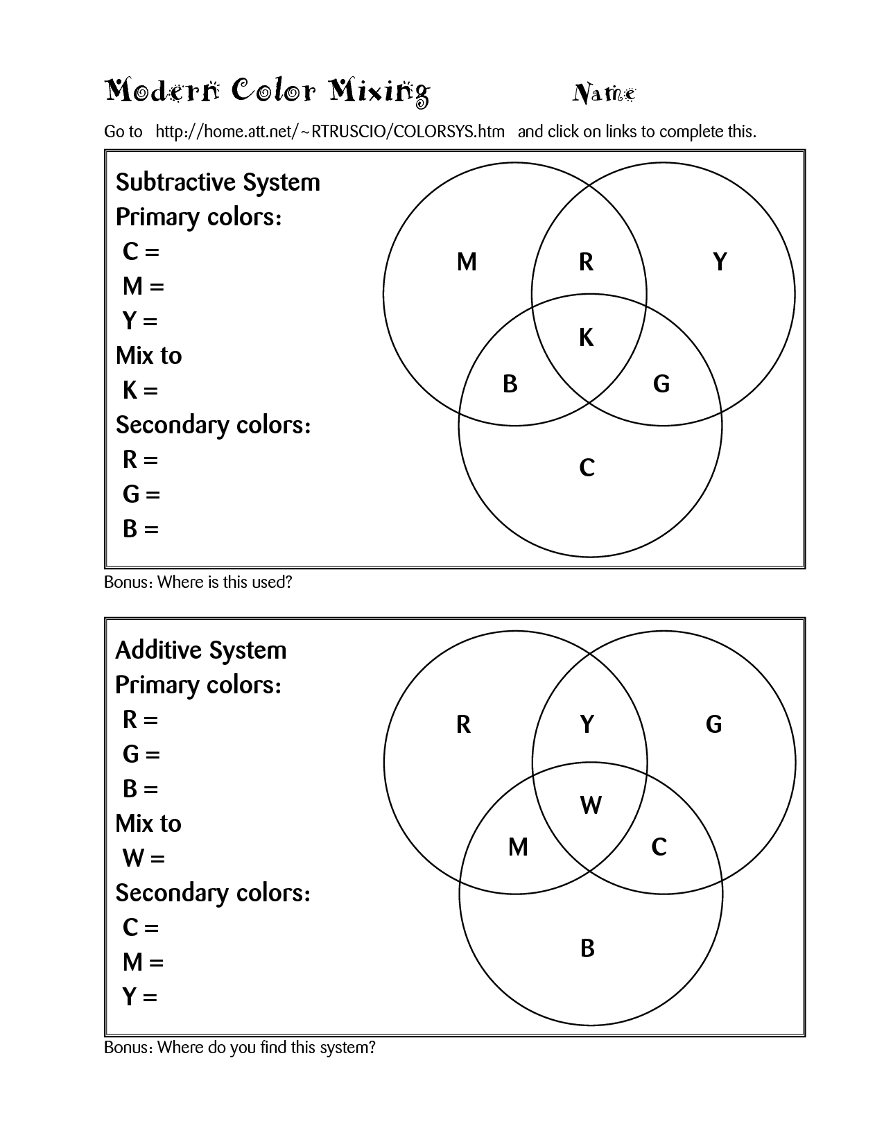 11 Best Images Of Primary And Secondary Colors Worksheet