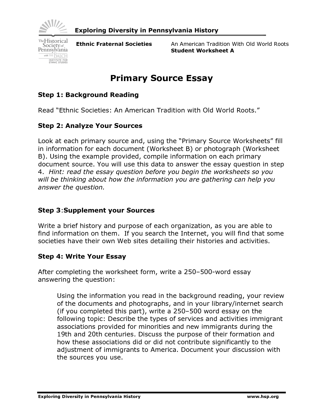 Primary Research Paper Examples