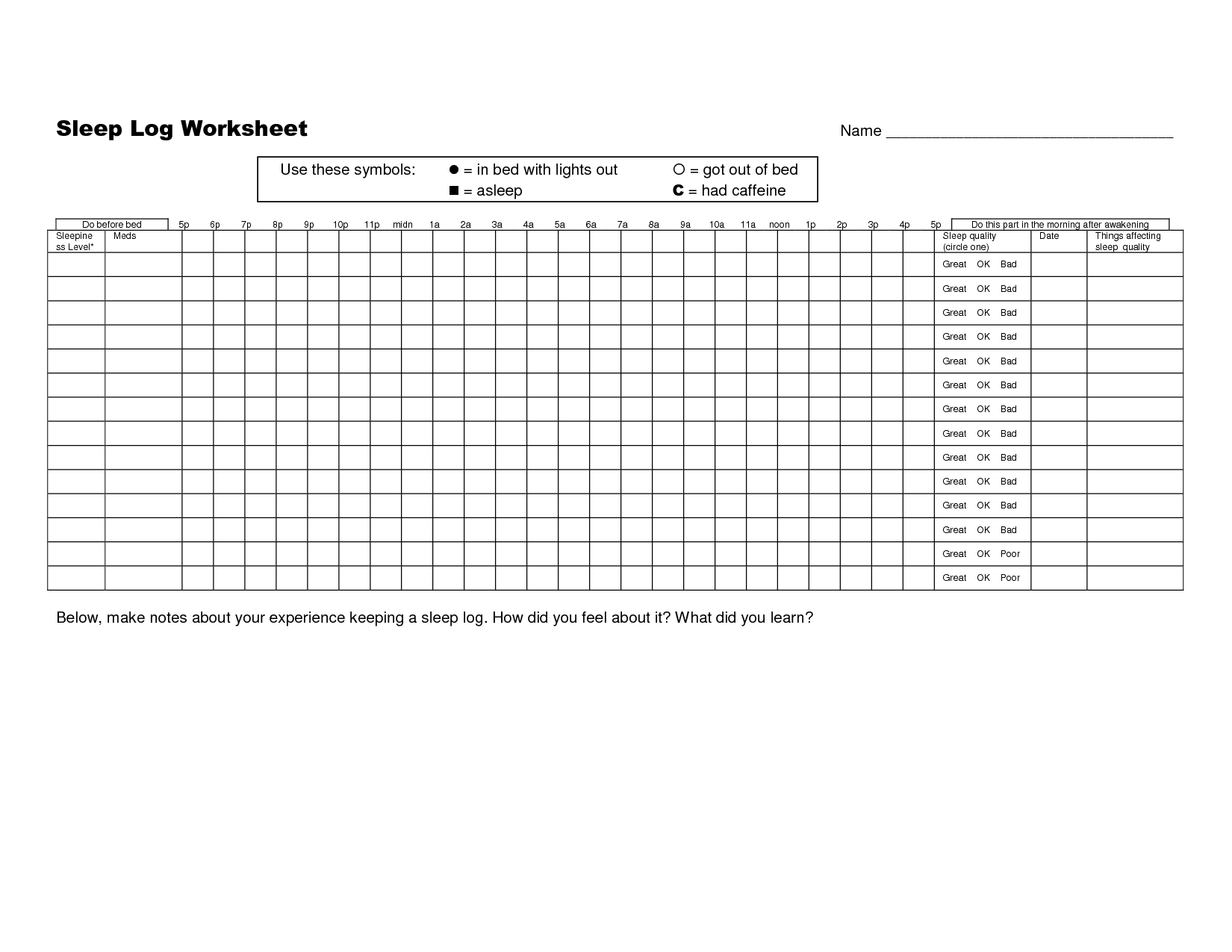 Daily Routine Activity Worksheet