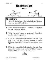 17 Best Images of Estimation Worksheets For 2nd Grade ...