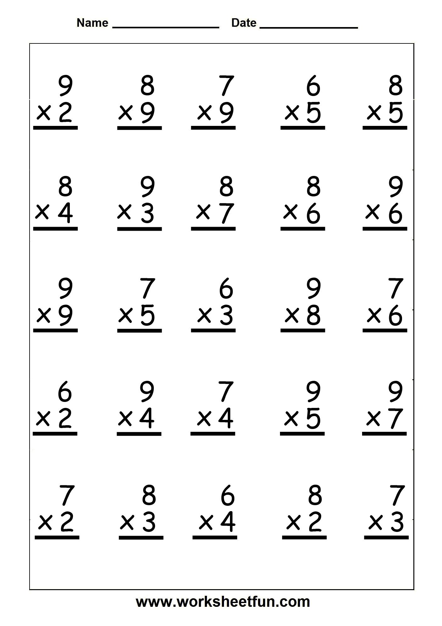 18 Best Images Of Multiplication Test Worksheet