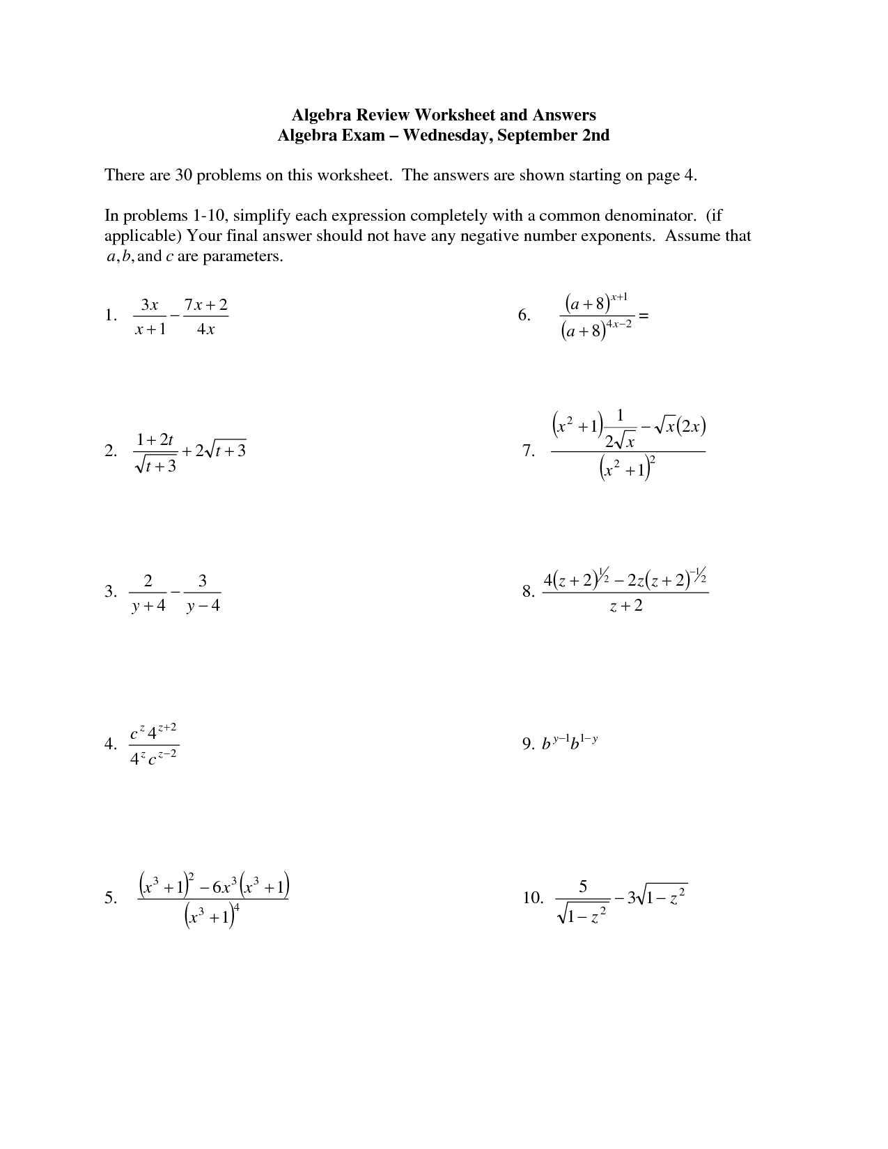 13 Best Images Of Did You Hear About Math Worksheet Answer Key