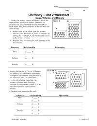 9 Best Images of Chemistry Worksheet Matter 1 Answer Key
