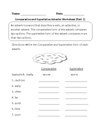 18 Best Images of Adverbs Worksheets PDF - Comparative and ...