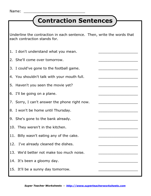 small resolution of Apostrophe Worksheets Not   Printable Worksheets and Activities for  Teachers