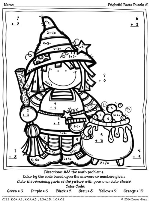 Halloween Addition Color By Number Coloring Pages Sketch
