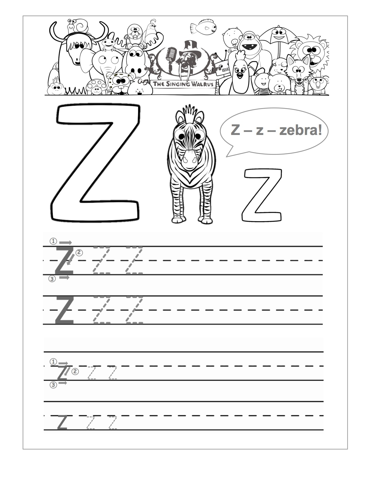 13 Best Images Of Letter Z Practice Worksheet