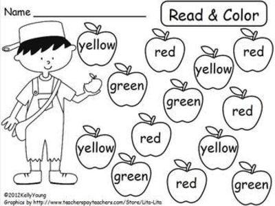 13 Best Images of Read And Color Worksheets Kindergarten