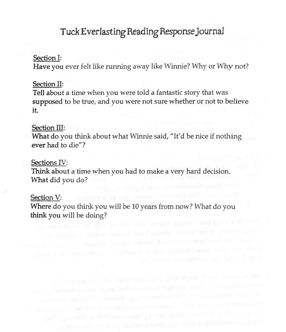 19 Best Images Of Reading Journal Response Worksheet