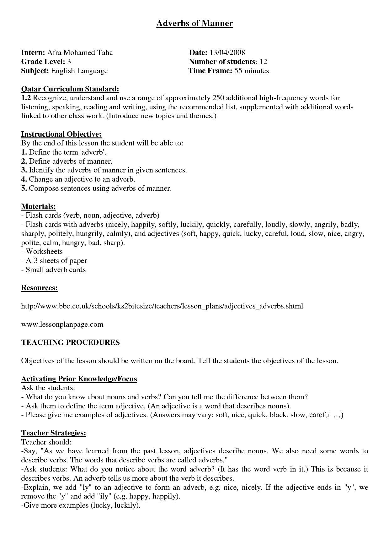 13 Best Images Of Adverb Worksheets With Answers