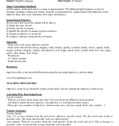 Adverbs Worksheets With Answers   Printable Worksheets and Activities for  Teachers [ 1754 x 1240 Pixel ]
