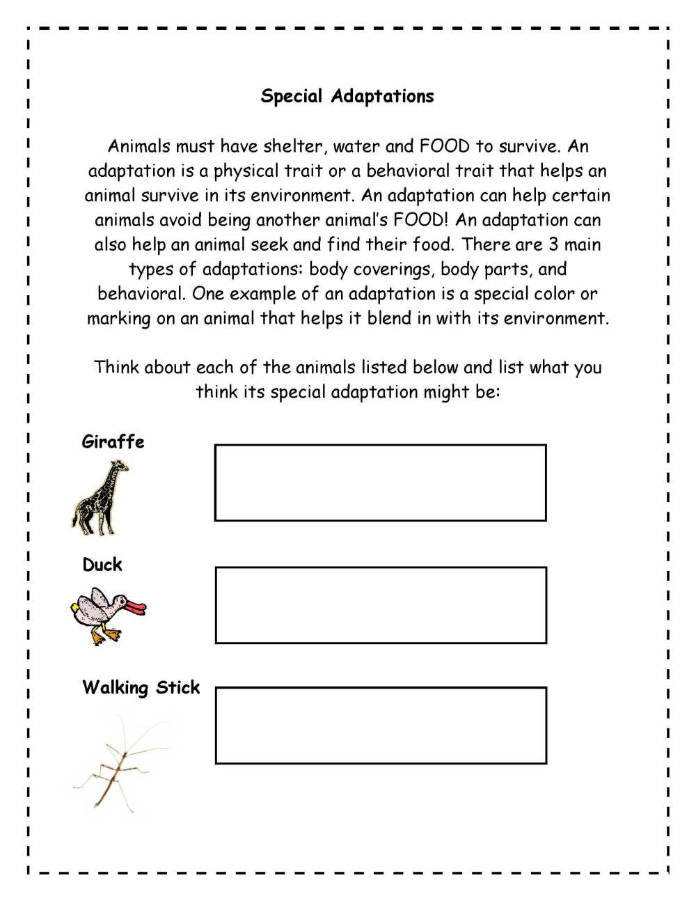 medium resolution of Plant Adaptations Worksheet Grade 3   Printable Worksheets and Activities  for Teachers