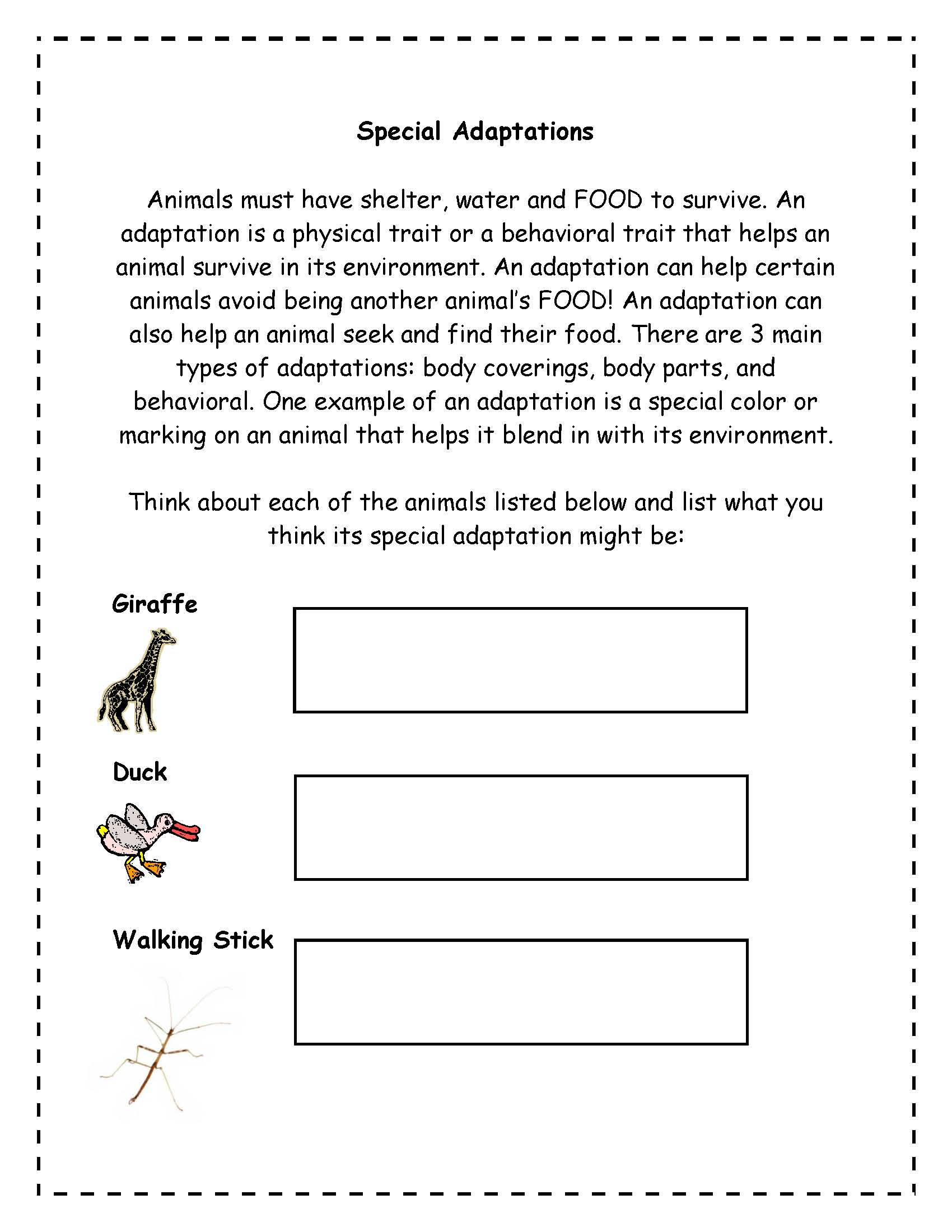 hight resolution of Plant Adaptations Worksheet Grade 3   Printable Worksheets and Activities  for Teachers