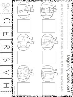 16 Best Images of Fall Kindergarten Phonics Worksheets