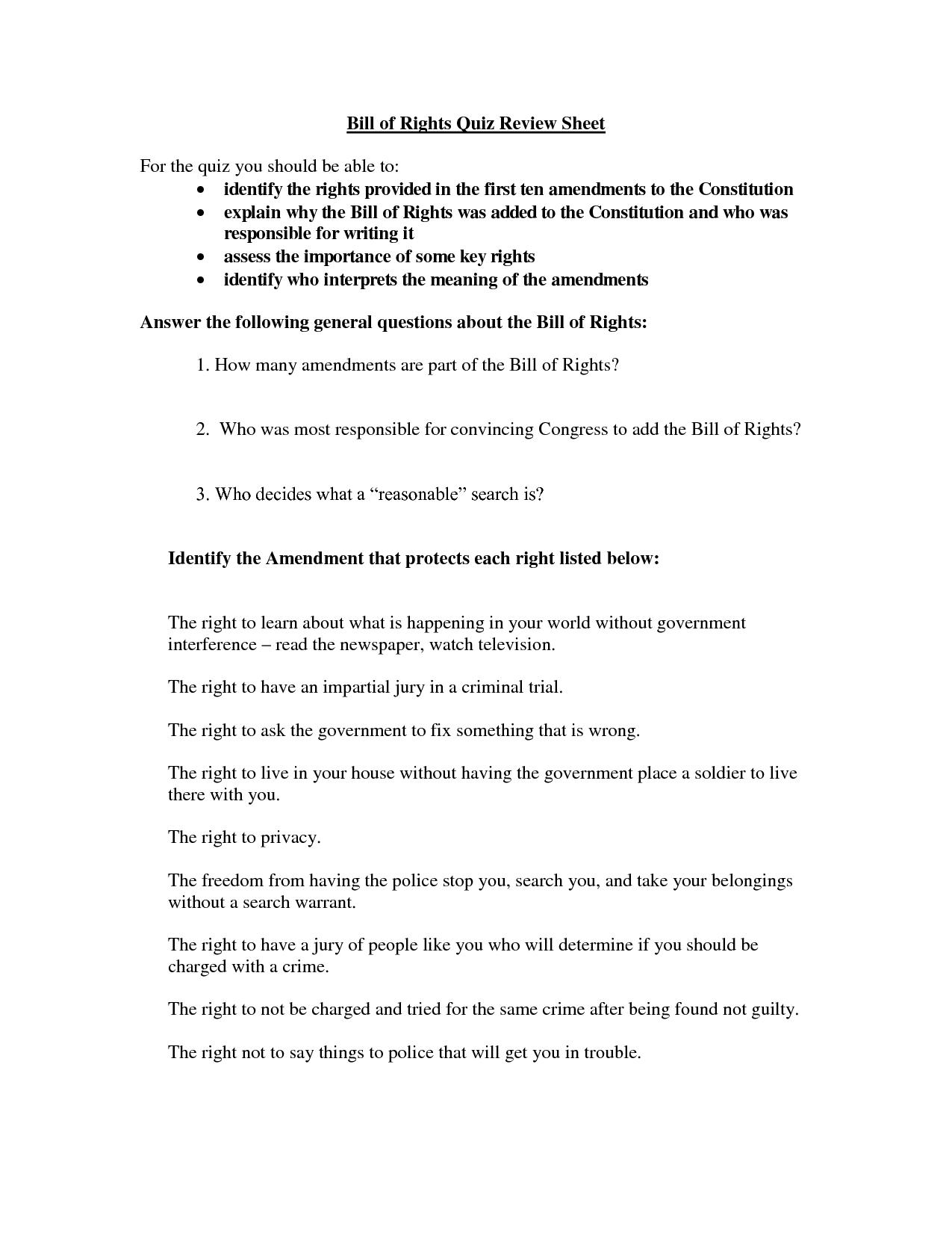 11 Best Images Of The Second Amendment Today Worksheet